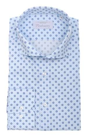 Camasa barbati bleu cu motive Harrison