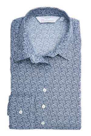 Camasa Dama Slim Fit Bleu Inflorata