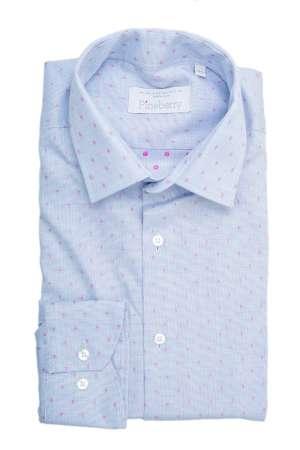 Camasa Barbati Bleu cu Buline Roz