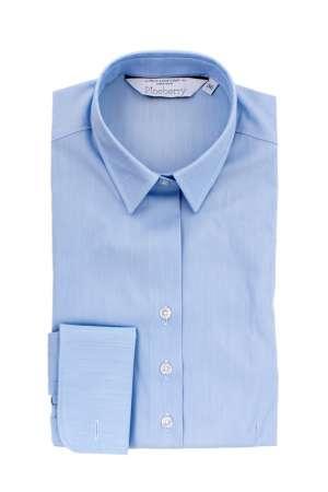Camasa Dama Slim Fit Bleu pentru Butoni