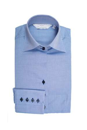 Camasa Dama Slim Fit Bleu Office