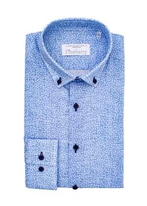 Camasa Barbati Bleu cu Stelute Albe