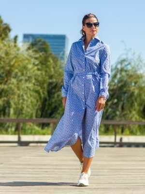 Rochie Lunga Buline Bleu