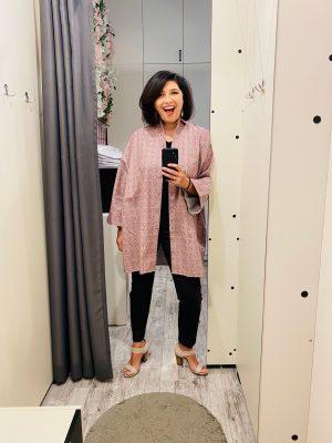 Camasa Blazer cu Maneca Kimono