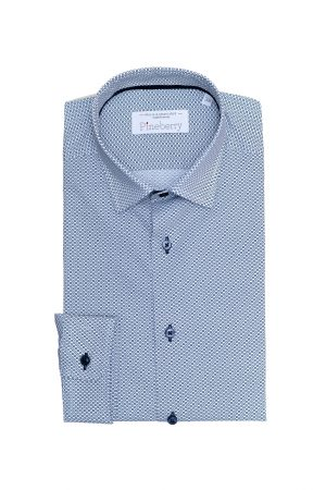 Camasa Barbati Slim Fit in Cercuri Gri