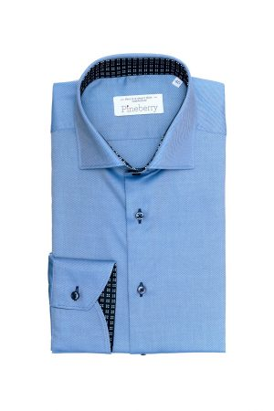 Camasa Barbati Slim Fit Bleu