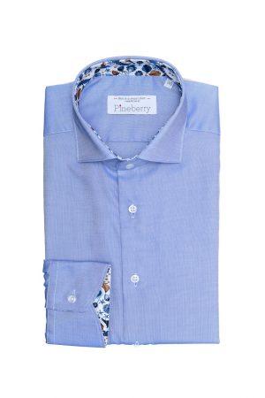 Camasa Barbati Slim Fit Bleu Contrast