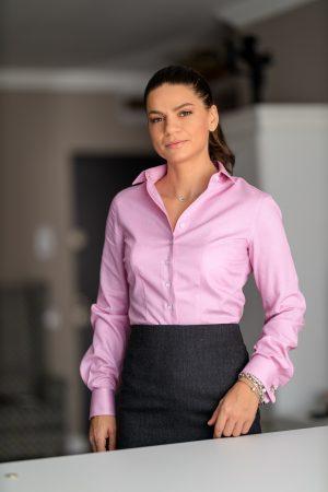 Camasa Dama Slim Fit Lila pentru Butoni