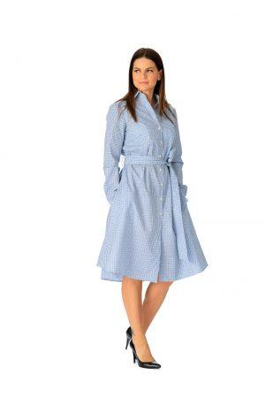 Rochie Scurta Cercuri Bleu-Albastre