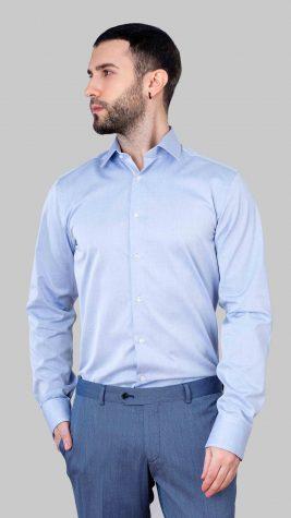 Camasa Barbati Slim Fit Bleu